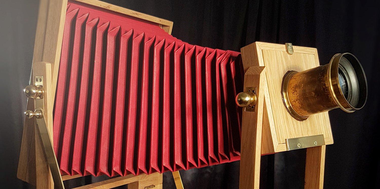 Banco ottico artigianale in legno